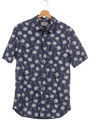 Мъжка риза Marks & Spencer, Размер S, Цвят Син, Памук, Цена 16,80лв.