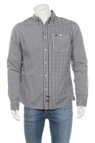 Мъжка риза Mustang, Размер M, Цвят Бял, Памук, Цена 15,08лв.