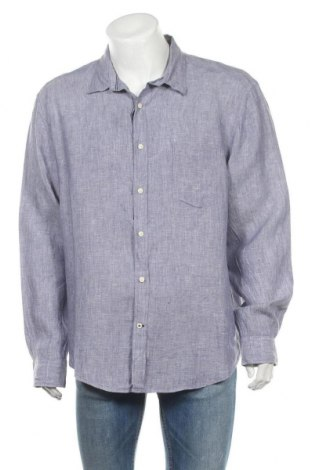 Ανδρικό πουκάμισο Nautica, Μέγεθος 3XL, Χρώμα Μπλέ, 100% λινό, Τιμή 25,33€