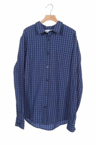 Ανδρικό πουκάμισο Pier One, Μέγεθος S, Χρώμα Μπλέ, 50% βαμβάκι, 50% πολυεστέρας, Τιμή 1,93€