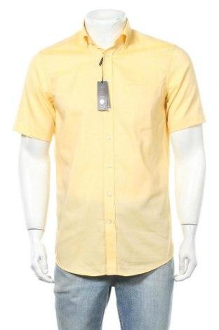 Мъжка риза Seidensticker, Размер S, Цвят Жълт, Памук, Цена 43,07лв.