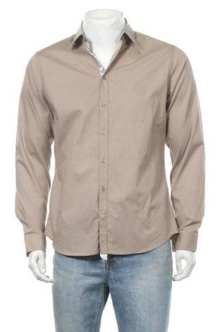 Мъжка риза Seidensticker, Размер M, Цвят Бежов, Памук, Цена 17,01лв.