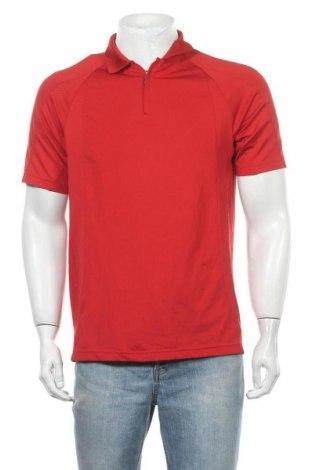 Мъжка тениска Adidas, Размер M, Цвят Червен, 95% полиестер, 5% еластан, Цена 17,85лв.