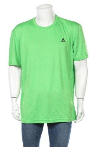 Ανδρικό t-shirt Adidas, Μέγεθος XXL, Χρώμα Πράσινο, Πολυεστέρας, Τιμή 16,66€