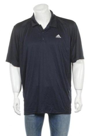 Ανδρικό t-shirt Adidas, Μέγεθος XXL, Χρώμα Μπλέ, Πολυεστέρας, Τιμή 18,19€
