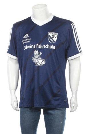 Ανδρικό t-shirt Adidas, Μέγεθος XL, Χρώμα Μπλέ, Πολυεστέρας, Τιμή 38,32€