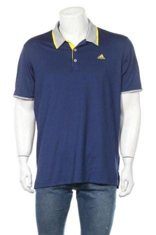 Ανδρικό t-shirt Adidas, Μέγεθος L, Χρώμα Μπλέ, 90% πολυεστέρας, 10% ελαστάνη, Τιμή 22,21€