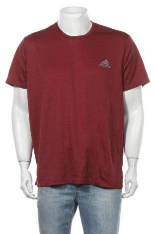 Ανδρικό t-shirt Adidas, Μέγεθος XXL, Χρώμα Κόκκινο, Πολυεστέρας, Τιμή 11,82€