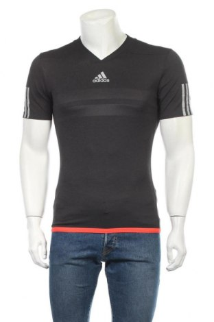 Ανδρικό t-shirt Adidas, Μέγεθος S, Χρώμα Γκρί, Πολυεστέρας, Τιμή 22,73€
