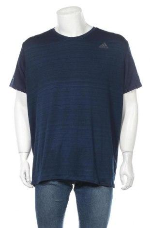 Ανδρικό t-shirt Adidas, Μέγεθος XXL, Χρώμα Μπλέ, Πολυεστέρας, ελαστάνη, Τιμή 22,08€