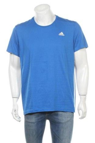 Ανδρικό t-shirt Adidas, Μέγεθος XL, Χρώμα Μπλέ, 70% βαμβάκι, 30% πολυεστέρας, Τιμή 20,78€