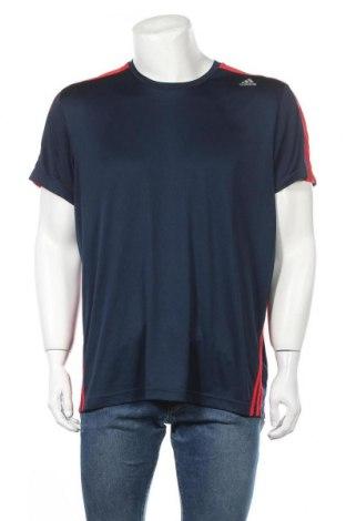 Ανδρικό t-shirt Adidas, Μέγεθος XL, Χρώμα Μπλέ, Πολυεστέρας, Τιμή 11,82€