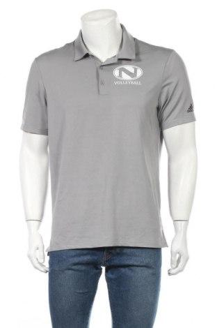 Ανδρικό t-shirt Adidas, Μέγεθος M, Χρώμα Γκρί, 93% πολυεστέρας, 7% ελαστάνη, Τιμή 17,28€