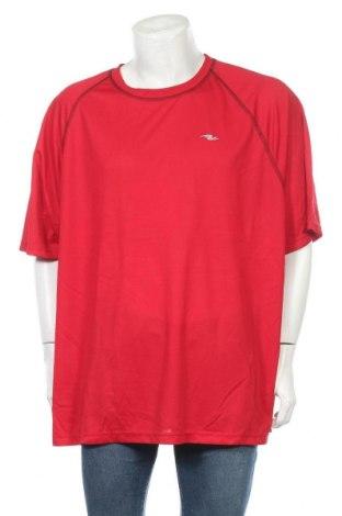 Ανδρικό t-shirt Athletic Works, Μέγεθος 4XL, Χρώμα Κόκκινο, Πολυεστέρας, Τιμή 11,69€