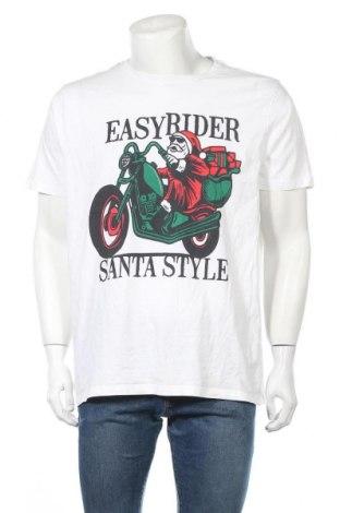 Мъжка тениска B Collection, Размер XXL, Цвят Бял, Памук, Цена 19,95лв.