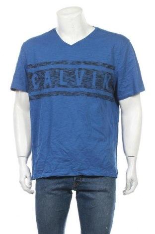Мъжка тениска Calvin Klein Jeans, Размер XXL, Цвят Син, Памук, Цена 33,60лв.