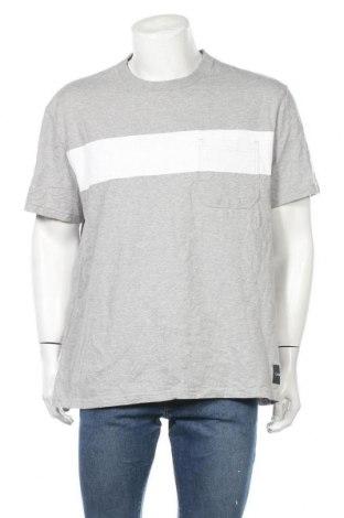 Мъжка тениска Calvin Klein Jeans, Размер XXL, Цвят Сив, Памук, Цена 35,70лв.