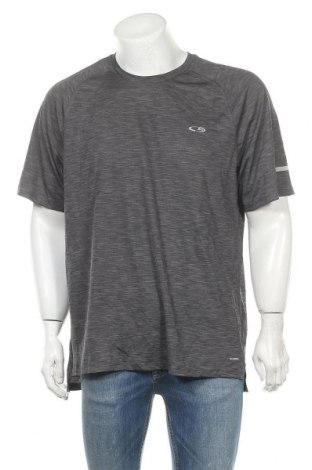 Ανδρικό t-shirt Champion, Μέγεθος XXL, Χρώμα Γκρί, Πολυεστέρας, Τιμή 8,64€