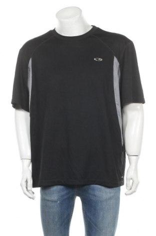 Ανδρικό t-shirt Champion, Μέγεθος XXL, Χρώμα Μαύρο, Πολυεστέρας, Τιμή 7,73€