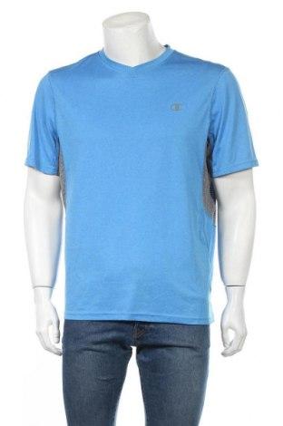 Ανδρικό t-shirt Champion, Μέγεθος L, Χρώμα Μπλέ, Πολυεστέρας, Τιμή 10,00€