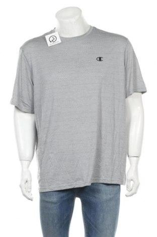 Ανδρικό t-shirt Champion, Μέγεθος XL, Χρώμα Γκρί, Πολυεστέρας, Τιμή 8,18€