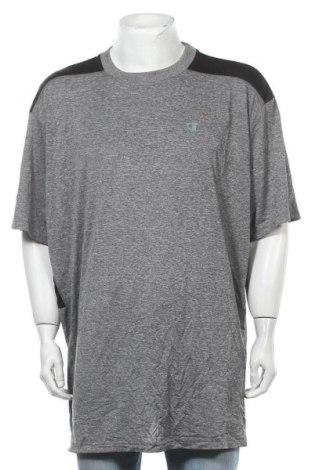 Ανδρικό t-shirt Champion, Μέγεθος 4XL, Χρώμα Γκρί, Πολυεστέρας, Τιμή 8,83€