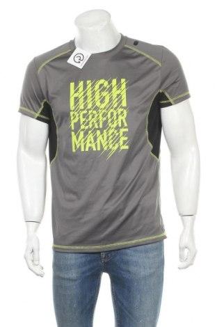 Мъжка тениска Crivit, Размер M, Цвят Сив, Полиестер, Цена 15,75лв.