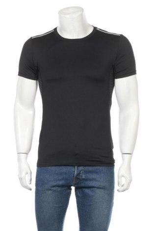 Мъжка тениска Crivit, Размер M, Цвят Черен, 86% полиестер, 14% еластан, Цена 17,96лв.