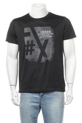 Мъжка тениска Crivit, Размер M, Цвят Черен, Полиестер, Цена 13,23лв.