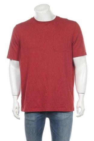 Мъжка тениска Croft & Barrow, Размер L, Цвят Червен, 60% памук, 40% полиестер, Цена 12,50лв.
