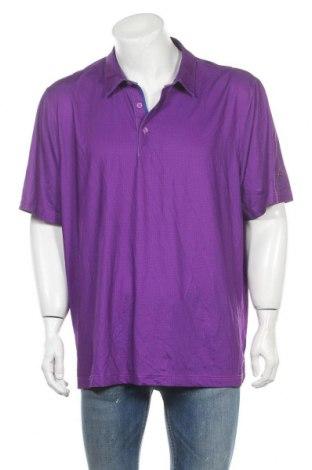Мъжка тениска Cutter & Buck, Размер L, Цвят Лилав, 94% полиестер, 6% еластан, Цена 4,20лв.