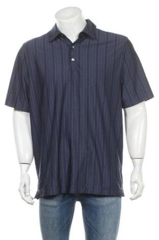 Мъжка тениска Cutter & Buck, Размер L, Цвят Син, 92% полиестер, 8% еластан, Цена 4,46лв.