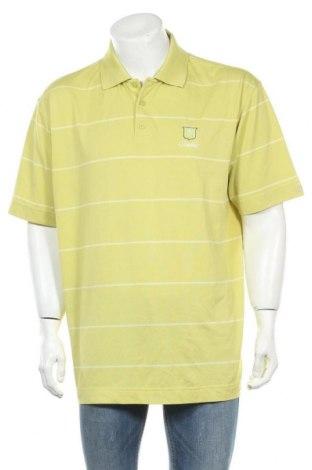 Мъжка тениска Cutter & Buck, Размер L, Цвят Зелен, 97% полиестер, 3% еластан, Цена 4,99лв.