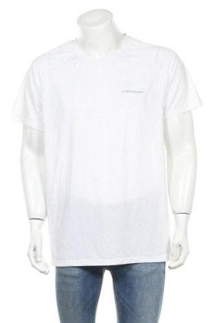 Ανδρικό t-shirt Dunlop, Μέγεθος XXL, Χρώμα Λευκό, Πολυεστέρας, ελαστάνη, Τιμή 7,40€