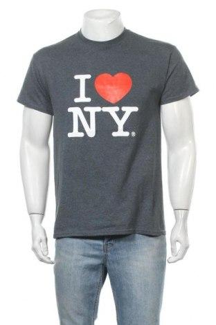 Мъжка тениска Gildan, Размер M, Цвят Сив, 50% памук, 50% полиестер, Цена 16,07лв.