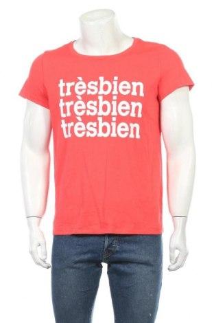 Мъжка тениска H&M L.O.G.G., Размер L, Цвят Розов, Памук, Цена 4,73лв.