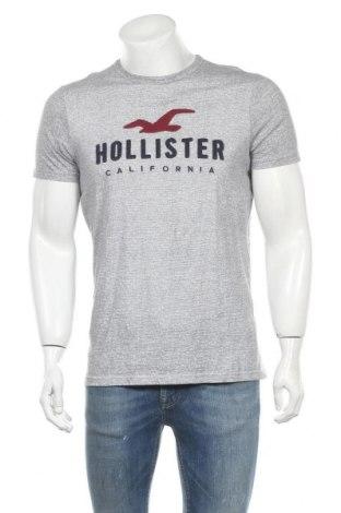 Мъжка тениска Hollister, Размер L, Цвят Сив, Памук, Цена 16,80лв.