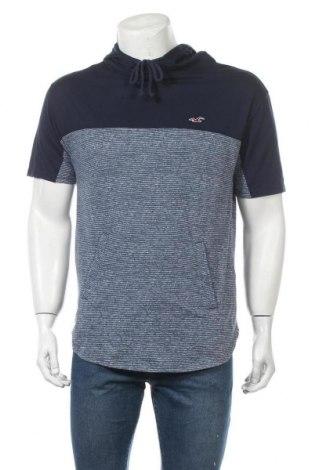 Мъжка тениска Hollister, Размер M, Цвят Син, 60% памук, 40% полиестер, Цена 19,95лв.
