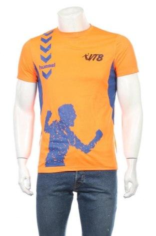 Ανδρικό t-shirt Hummel, Μέγεθος S, Χρώμα Πορτοκαλί, Πολυεστέρας, Τιμή 4,09€