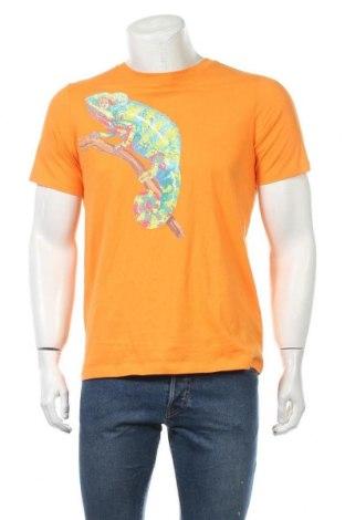 Мъжка тениска Land's End, Размер L, Цвят Оранжев, Памук, Цена 18,90лв.