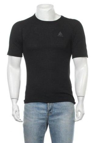 Мъжка тениска Odlo, Размер S, Цвят Черен, Полиестер, Цена 44,25лв.