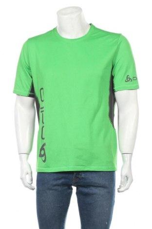 Мъжка тениска Odlo, Размер XL, Цвят Зелен, Полиестер, Цена 18,90лв.