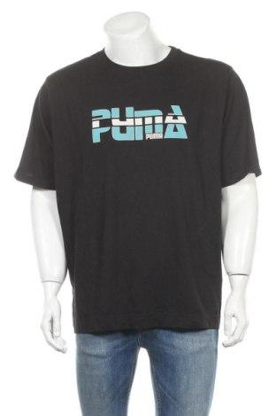 Мъжка тениска PUMA, Размер XXL, Цвят Черен, Памук, Цена 18,95лв.