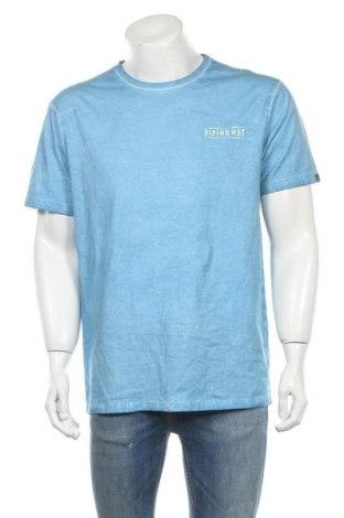 Ανδρικό t-shirt Piping Hot, Μέγεθος L, Χρώμα Μπλέ, Βαμβάκι, Τιμή 14,36€