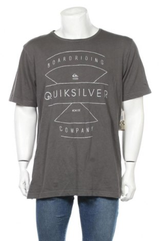 Ανδρικό t-shirt Quiksilver, Μέγεθος XL, Χρώμα Γκρί, Βαμβάκι, Τιμή 13,64€
