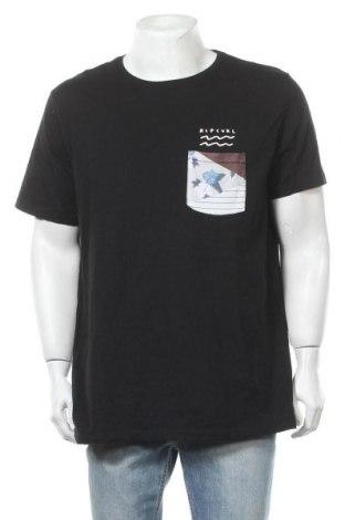Мъжка тениска Rip Curl, Размер XXL, Цвят Черен, Памук, Цена 18,90лв.