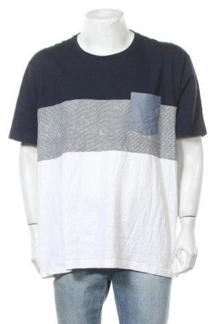 Ανδρικό t-shirt Rivers, Μέγεθος 3XL, Χρώμα Μπλέ, Βαμβάκι, Τιμή 7,60€