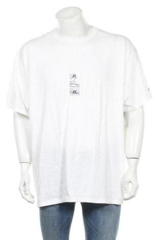 Мъжка тениска Russell, Размер XXL, Цвят Бял, Памук, Цена 20,16лв.