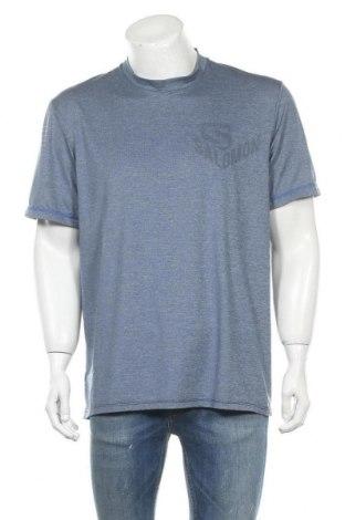 Мъжка тениска Salomon, Размер XL, Цвят Сив, 89% полиестер, 11% еластан, Цена 24,99лв.