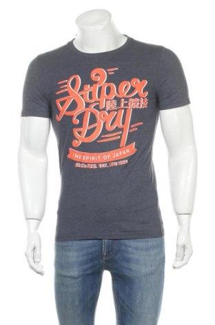 Pánské tričko  Superdry, Velikost M, Barva Modrá, 65% bavlna, 35% polyester, Cena  485,00Kč